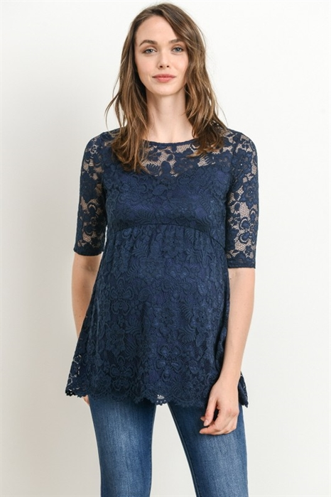 Picture of Floral Lace Maternity Shirt