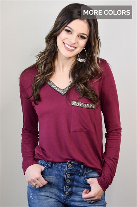 Picture of Marilyn Sequin Top