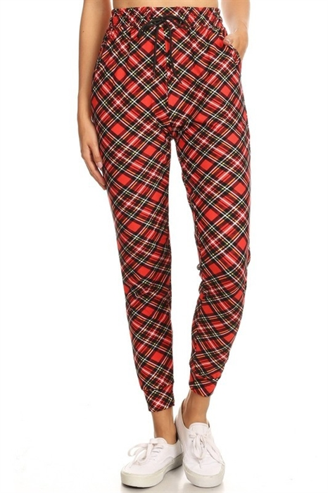 Picture of Holiday Plaid Softest Joggers