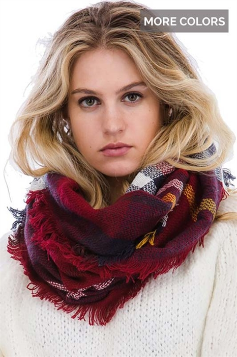 Picture of Plaid Infinity Scarves