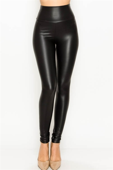 Picture of Faux Leather High Waist Skinny Leggings 🇺🇸