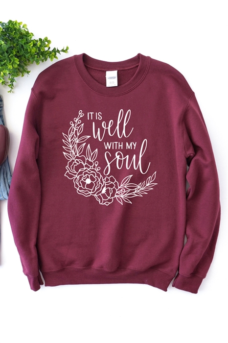 Picture of It Is Well With My Soul Graphic Sweatshirt