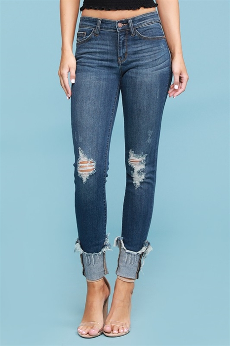 Picture of Deanna Distressed Cuffed Judy Blue Jeans