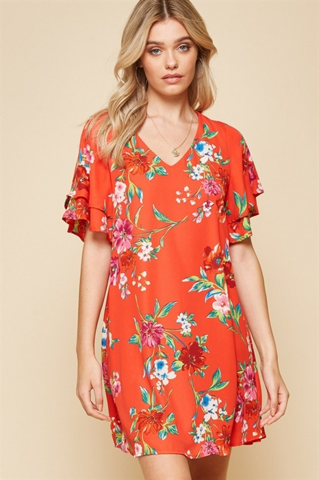 Picture of Anjou Ruffle Sleeve Dress