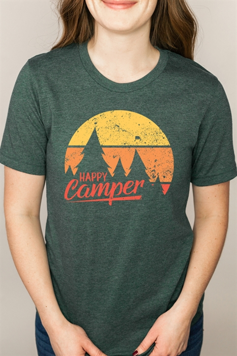 Picture of Distressed Happy Camper Graphic Tee