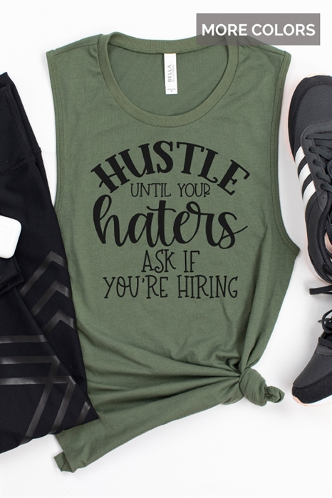 Picture of Hustle Graphic Muscle Tank