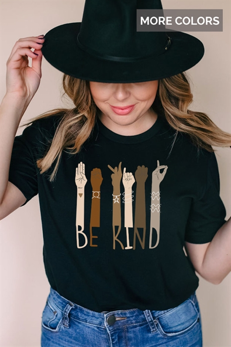 Picture of Be Kind Sign Language Graphic Tee