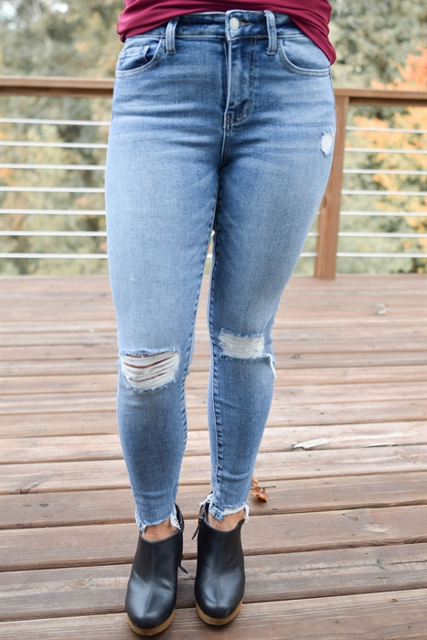 Picture of Vervet Alessia Mid Rise Crop Jeans