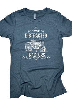 Picture of Distracted By Tractors Graphic Tee