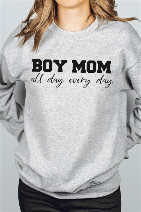 Picture of Boy Mom All Day Graphic Sweatshirt