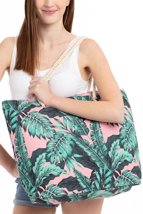 Picture of Tropical Leaves Beach Tote