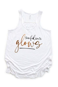Picture of Confidence Glows Flowy Graphic Tank