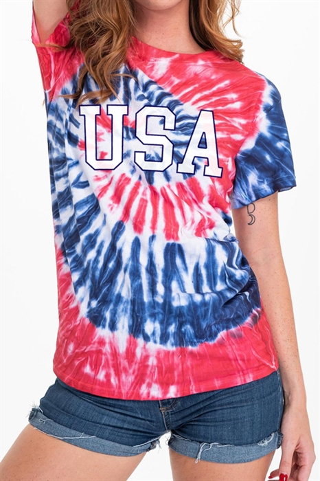 Picture of USA Tie Dye Graphic Tee