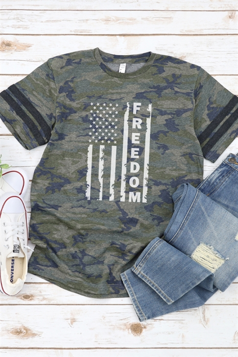 Picture of Freedom Flag Camo Graphic Tee