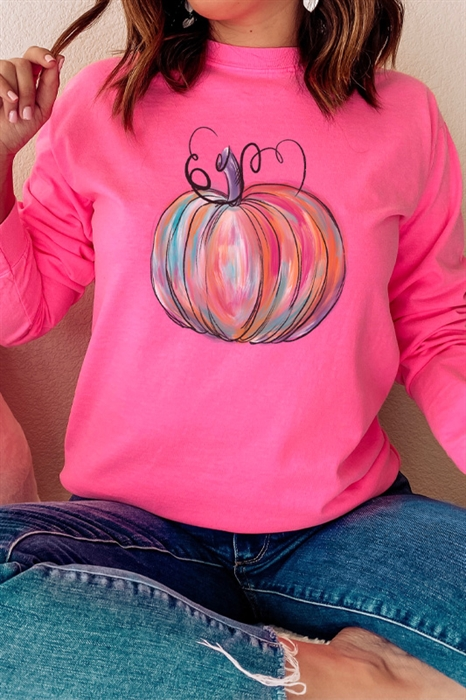 Picture of Painted Pumpkin LS Graphic Tee